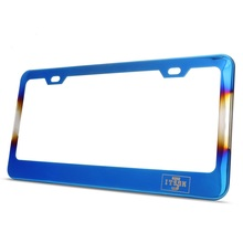 Nieuwe USA titanium blue rvs us size auto <span class=keywords><strong>Nummerplaat</strong></span> <span class=keywords><strong>Frame</strong></span>