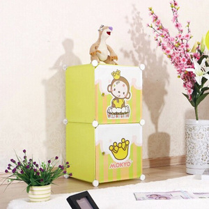 2 cubes Carton door lovely kids gift box can hold clothes, toys,books(FH-AL009-2)
