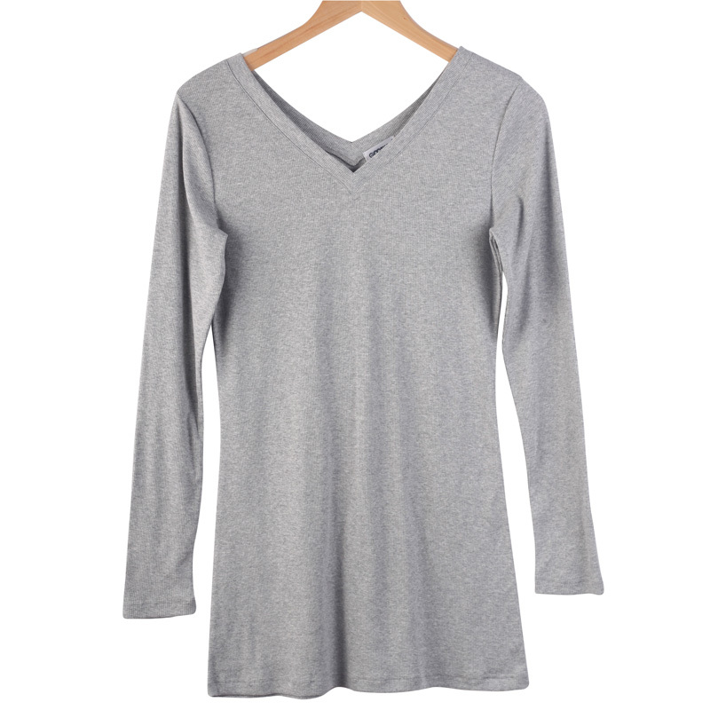 6dc7946cf9288 Get Quotations · Undershirt V Neck for Women Cotton Casual Full Sleeve Tops  and Tees S-XXXL Tighten