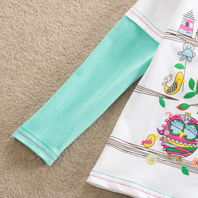 HTB1QIsbfNTI8KJjSspiq6zM4FXaf - Girls Long Sleeve All Year T-Shirt, Long Sleeve, Cotton, Various Designs and Prints