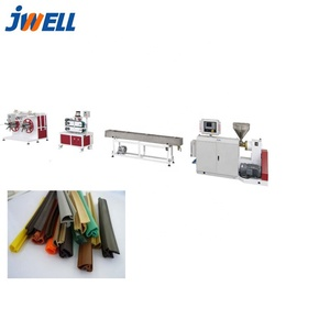 JWELL-PVC/SPVC/TPE/TPV/TPO/TPU sealing strip extrusion machine / door gasket frame production line for window and door or car