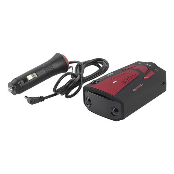 Новый автомобиль анти-полицию GPS радар-детектор голос оповещения лазерная V7 из светодиодов красный
