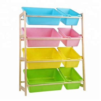 Best Choice Products Toy Bin Organizer Kids Storage Box Playroom Bedroom Shelf Drawer Drawers Plastic Stackable