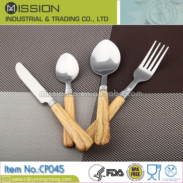 Stainless steel dinnerware set for 4 persons