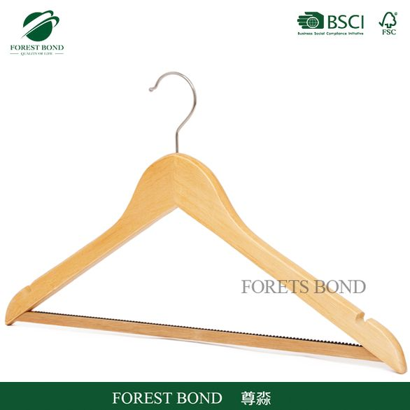 China gold supplier latest product wooden t-shirt hanger dress hanger stand