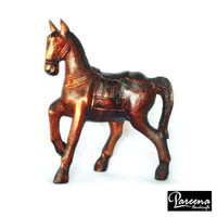 Primitive horse, antique, Handmade wood, carve horse stand, Horse figure, wood animal, wooden toy, Animal toy farm, OEM Thailand