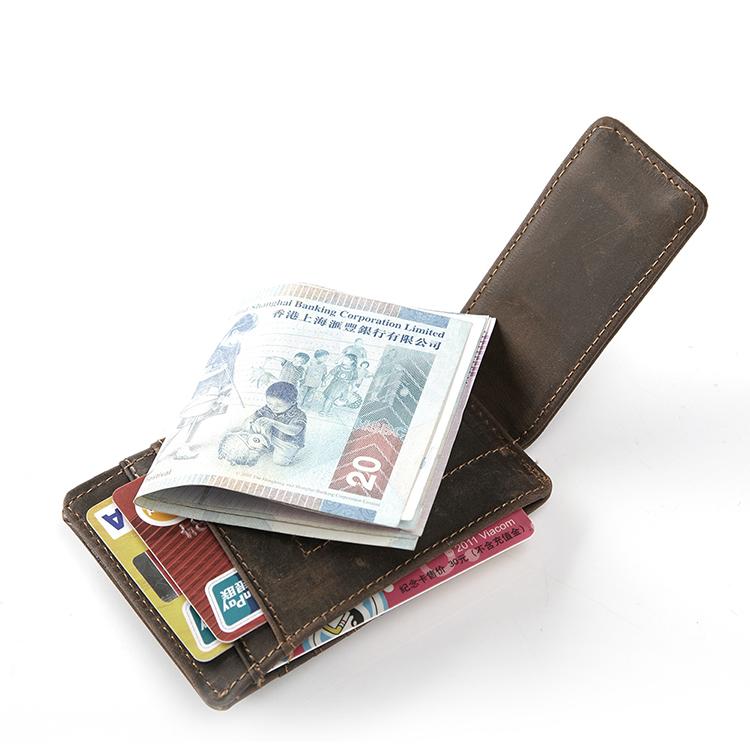 Teemzone мужчин из натуральной кожи бумажник бизнес свободного покроя кредитная карта ID держатель с сильным магнитом зажим для денег