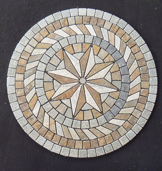 Natural Slate Stone Beautiful Floor Mosaic Patterns Wall Tiles Square Medallions