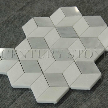 Polished Cube 3d White Marble Floor Tile - Buy Marble Floor Tile ...