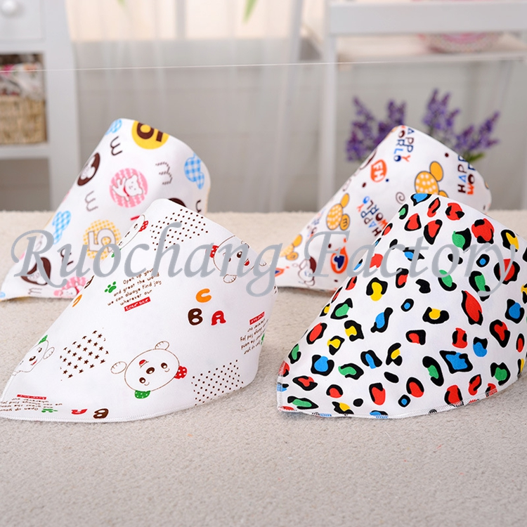 2016 100% Cotton Material and Infants & Toddlers Age Group OEM Service Supply Type baby bandana bib