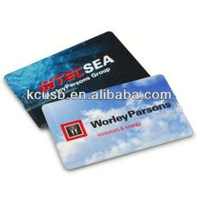 Slim Credit Card funny pen drive with logo printing both side
