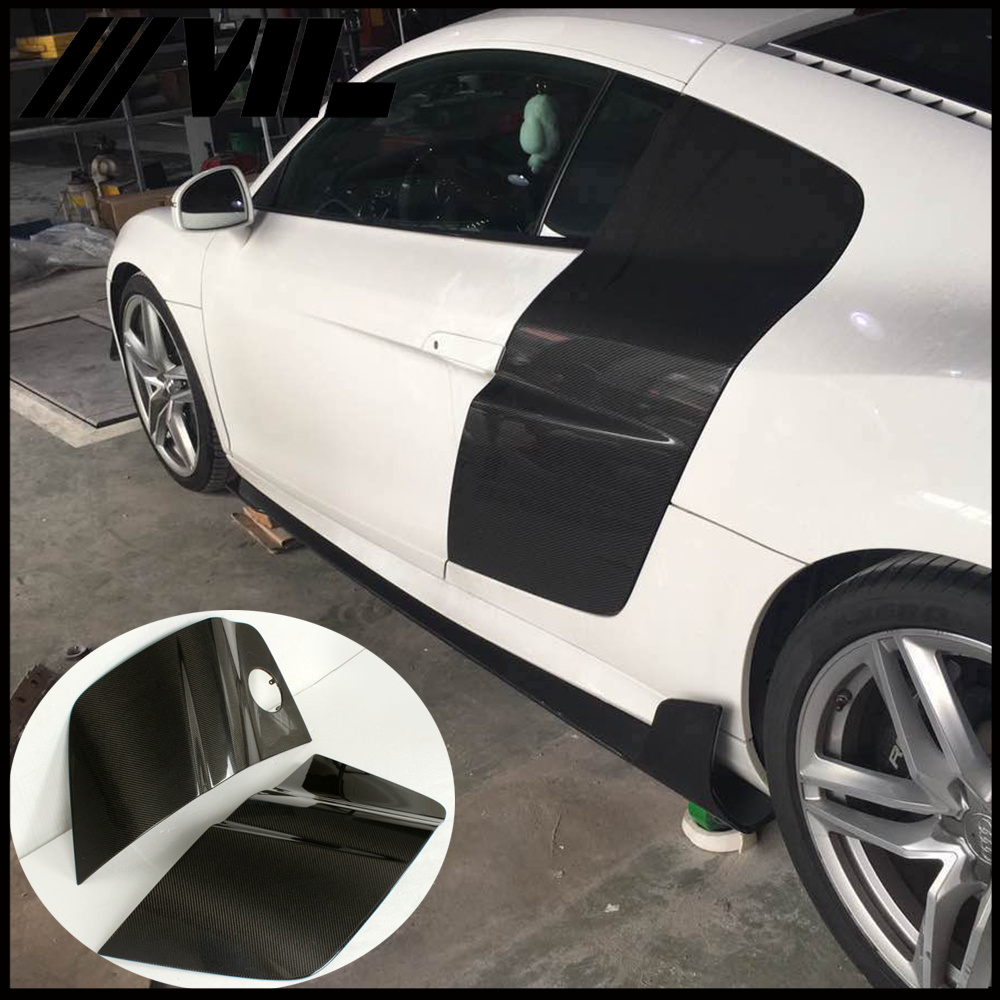 Koolstofvezel R8 Aftermarket Body Kit voor Audi R8 V8 V10 Base Coupe 2-Door 08-15