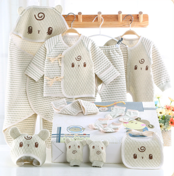 100 Organic Cotton Infants Baby Clothing Sets For Newborn Gift Box