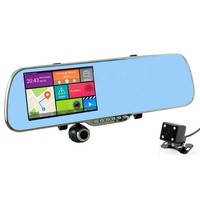 "5"" Touch Screen Dual camera Android GPS Navigation WIFI Motion Detection 1080P Rearview Mirror Car Camera Recorder"