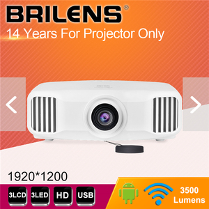 BRILENS 2019 FACTORY PRICE 1080P 3 LED HIGH BRIGHTNESS 3500 LUMENS PROJECTOR BEAMER