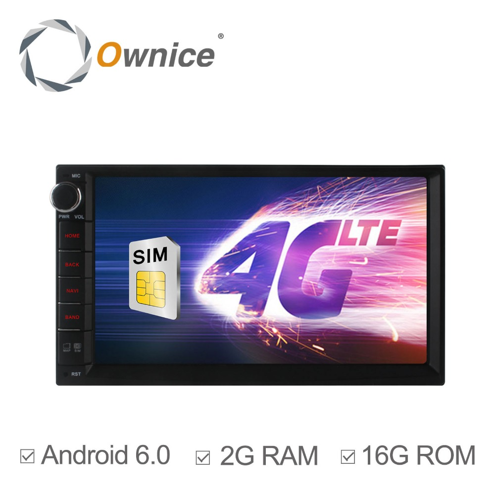 Ownice C500 HD Screen 1024*600 Android 6.0 Quad Core Head Unit for 2din Universal support 4G LTE