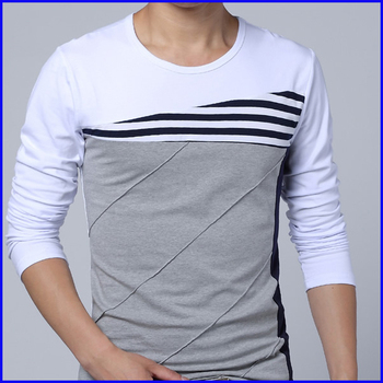 2014 New Design Cotton Slim Fit Big Tall Men Cotton Long Sleeve