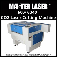 Hot Sales 80W CO2 Laser Cutting Machine 600mm*400mm Laser Head for Acrylic