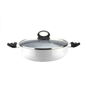 MSF-PA6242-1 Upscale aluminum cookware 24*8cm rice cooker silk printing non induction bottom
