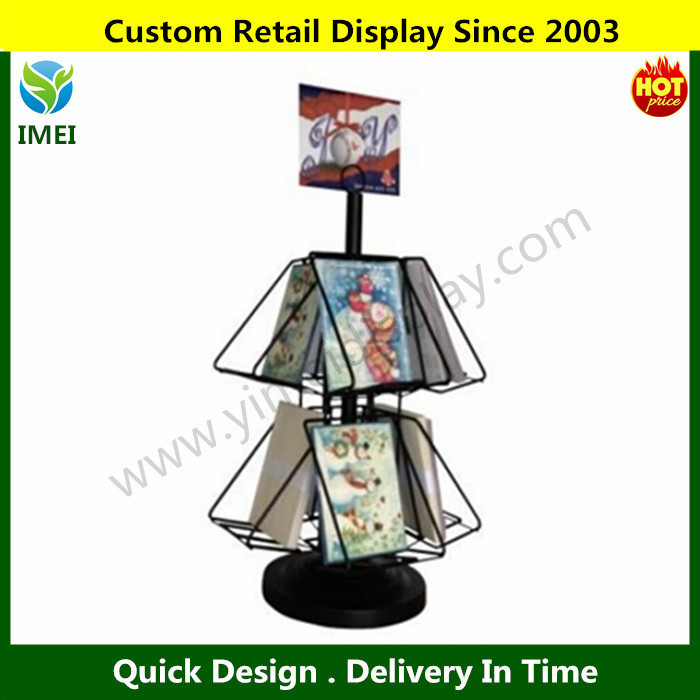 DVD Book CD Spinner Metal Display Rack and Stand