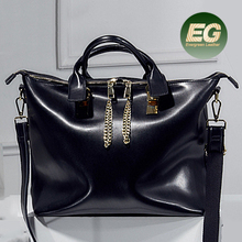 High Quality Napa cowhide leather lady Tote bag 2017 Fashion women large size handbag EMG5024