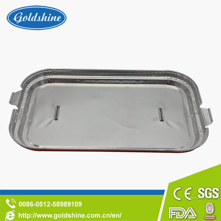 Goldshine Insulated airtight rectangular Aluminum foil food box for packaging