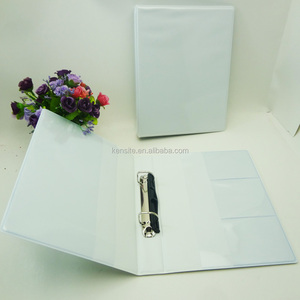 customized white pvc cover a5 2 ring binder