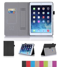 Smart PU leather case for Ipad Air 2 with card slot and hand strap