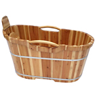 cheap lixury oak wooden base bathtub outdoor japan australia