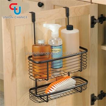 Door Hanging Basket Iron Cabinet Door Basket Household Cabinet Basket