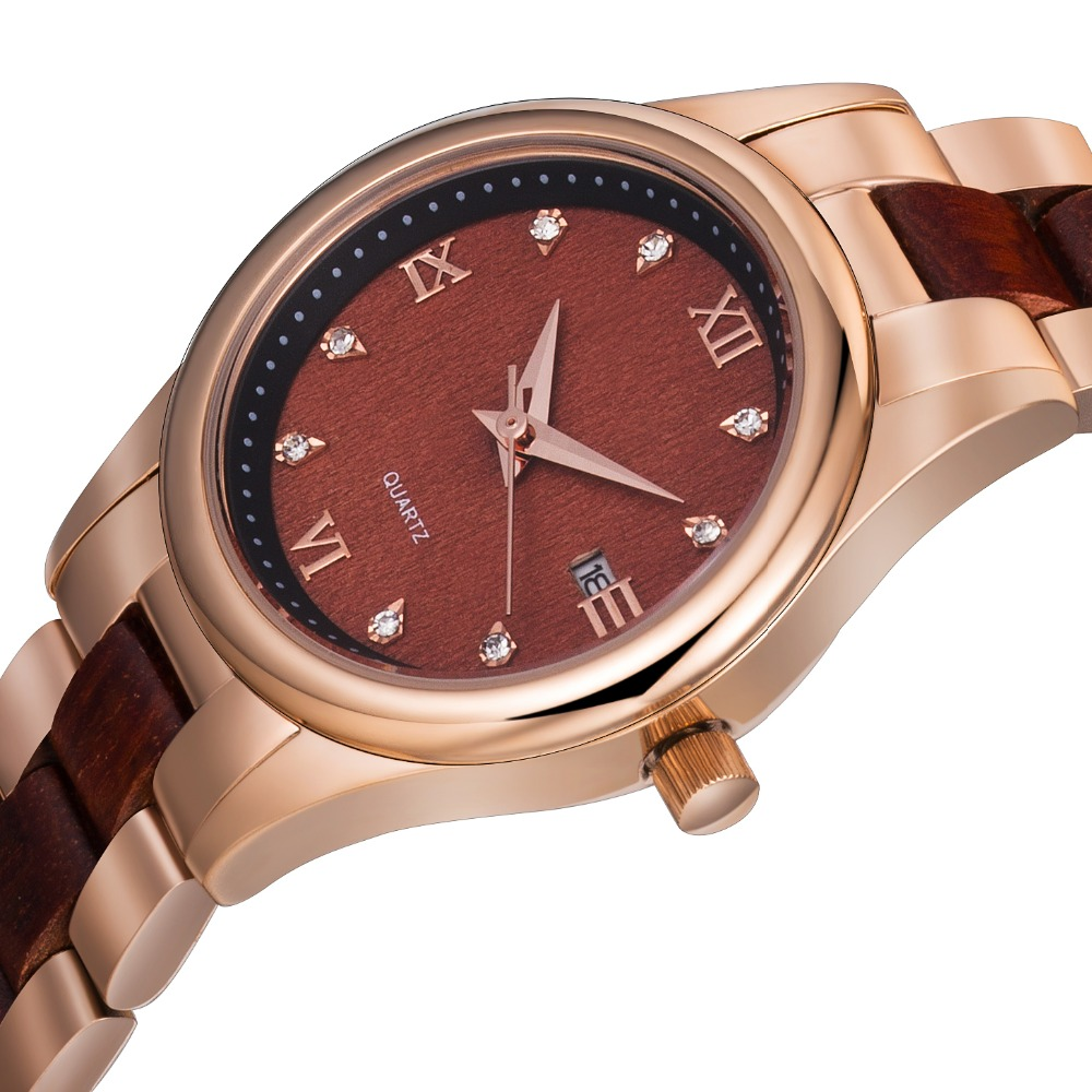 Customized watches top brand hongkong Stainless Steel solid band Women Watch wooden фото