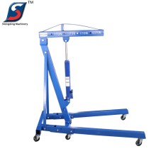 Workshop cheap 2t foldable shop crane for car engine
