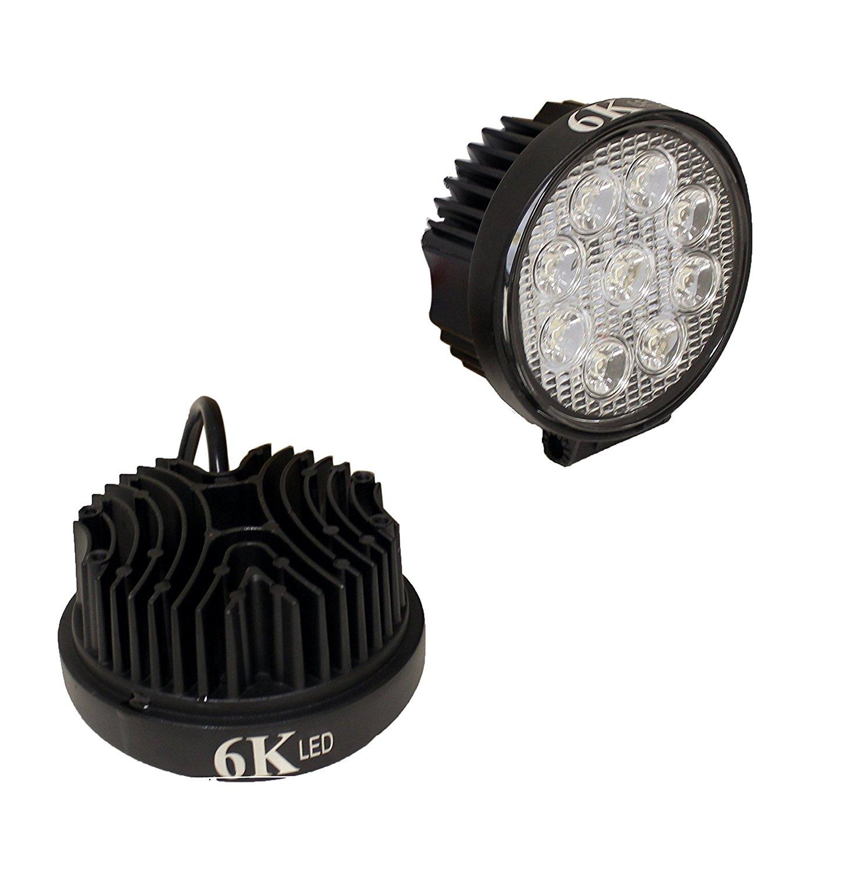 """TOOGOO(R) LED 4"""" round spot light off road Rack Bar lighting 4x4 Trucks ATV UTV Rhino 12volt 2pack Combo"""