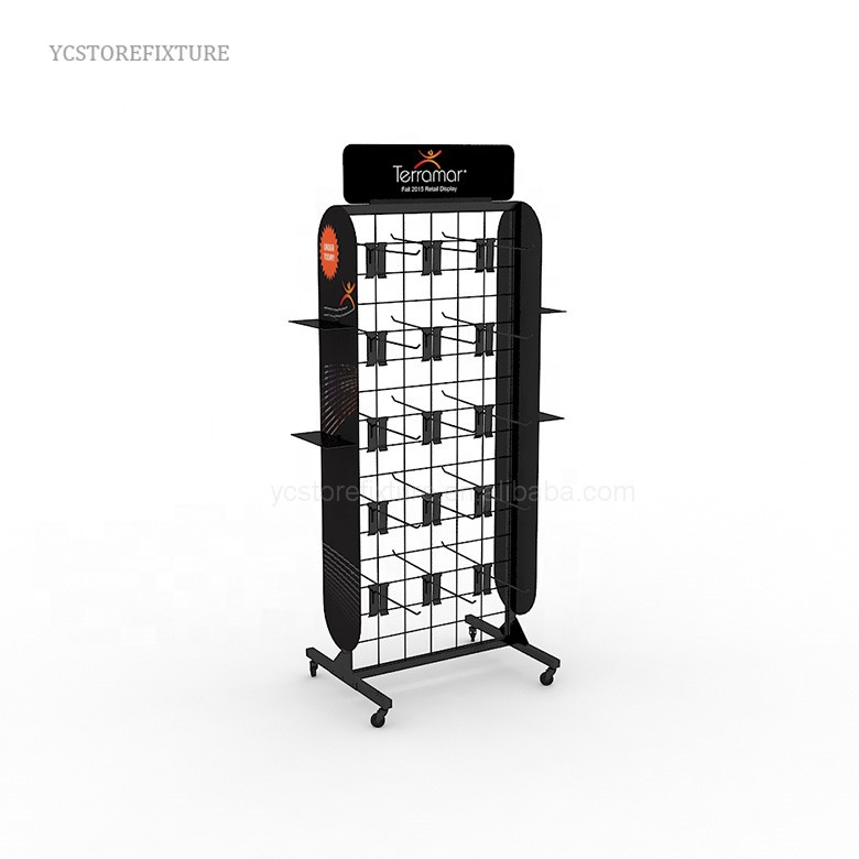 China wholesale custom design floor metal flip flop rack display
