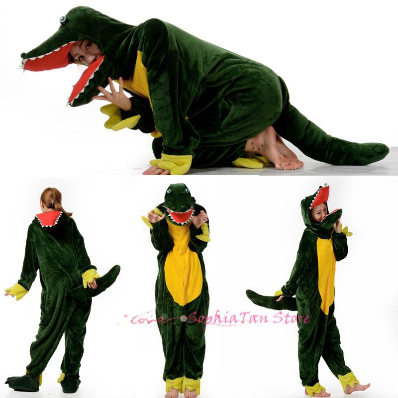 buy novelty fleece crocodile anime animal onesie for adult women men unisex pajamas halloween dress party suits cosplay costumes in cheap price on alibaba
