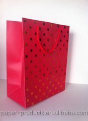 red polka dot Custom Printed Paper Bags
