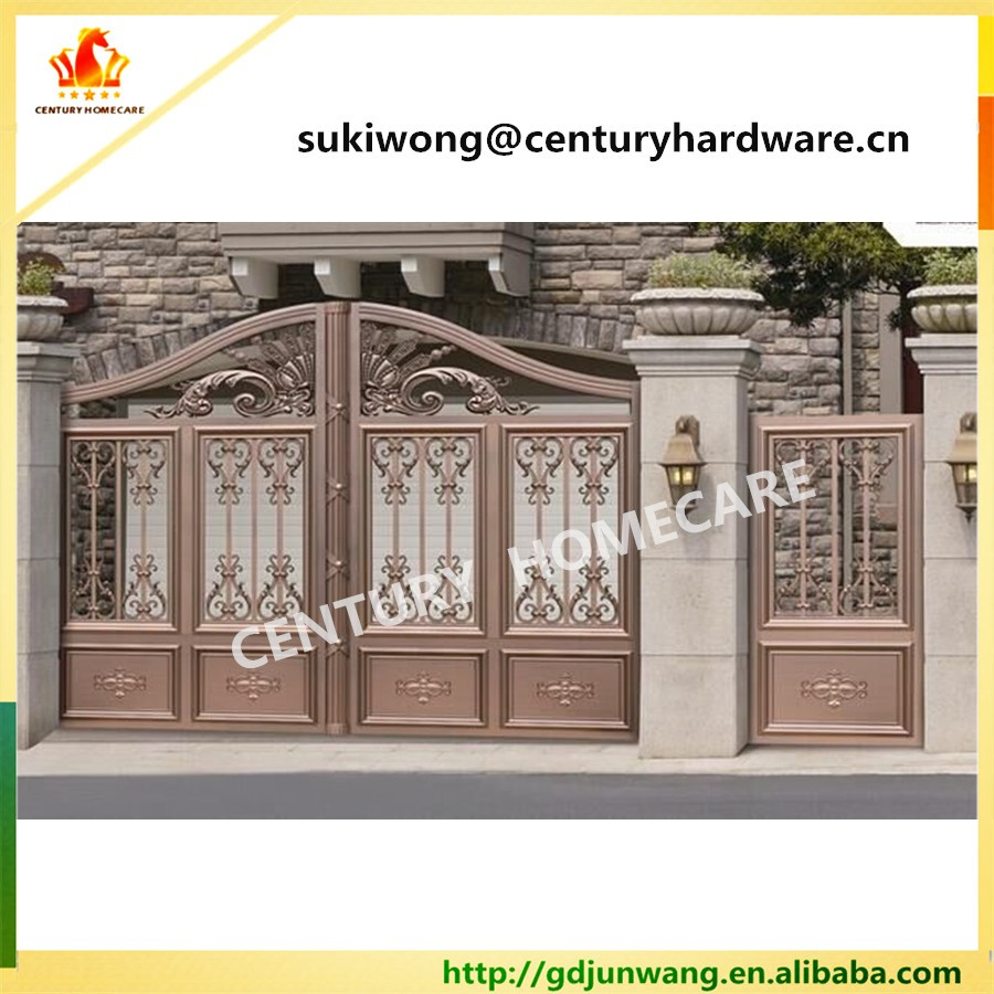 Beautiful residential wrought iron gate designs wrought for Residential main door design