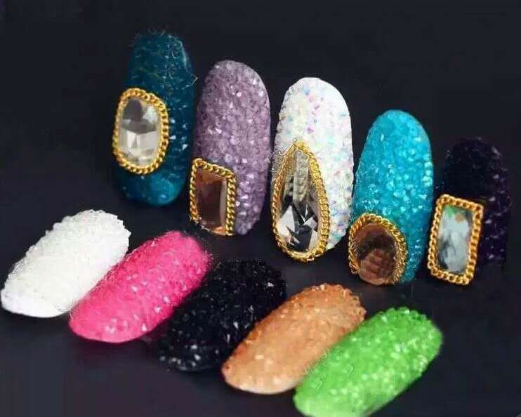 Factory direct colorful small pixi stone for nail art 1.2mm