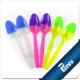 Hot-selling Disposable Plastic Ice Cream Color Changing Spoon