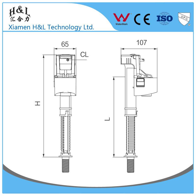 Toilet Cistern Dual Flush Valve Toilet Cistern Dual Flush Valve