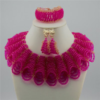 Nigeria Crystal Nigeria Jewelry Sets African Bridal Wedding Beads Jewelry Sets XGS02