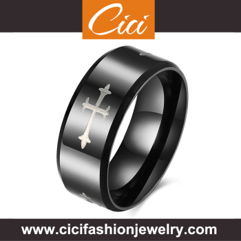 wholesale titanium silver 316l stainless steel rings for men