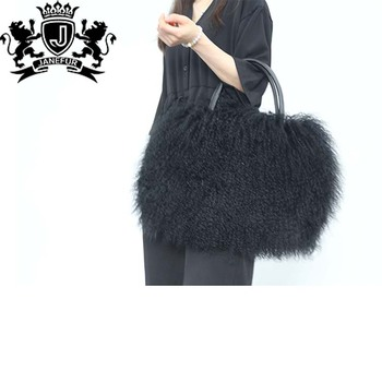 2018 New Designs Factory Direct Price Latest Women Real Fur Clutch Bag Top Quality Las