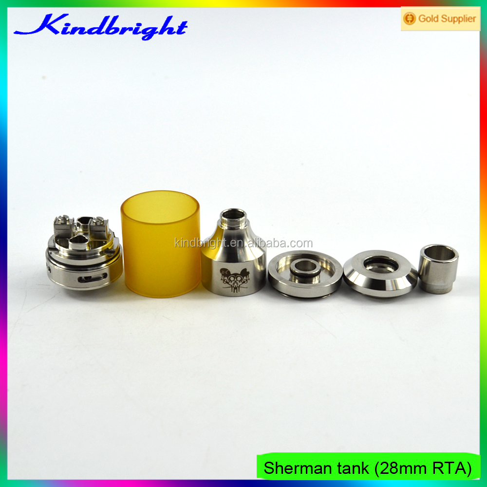 hot selling !!!! 2017 China supplier 28mm airflow control sherman rta/ sherman rta clone/Mad dog RTA Kit with high quality