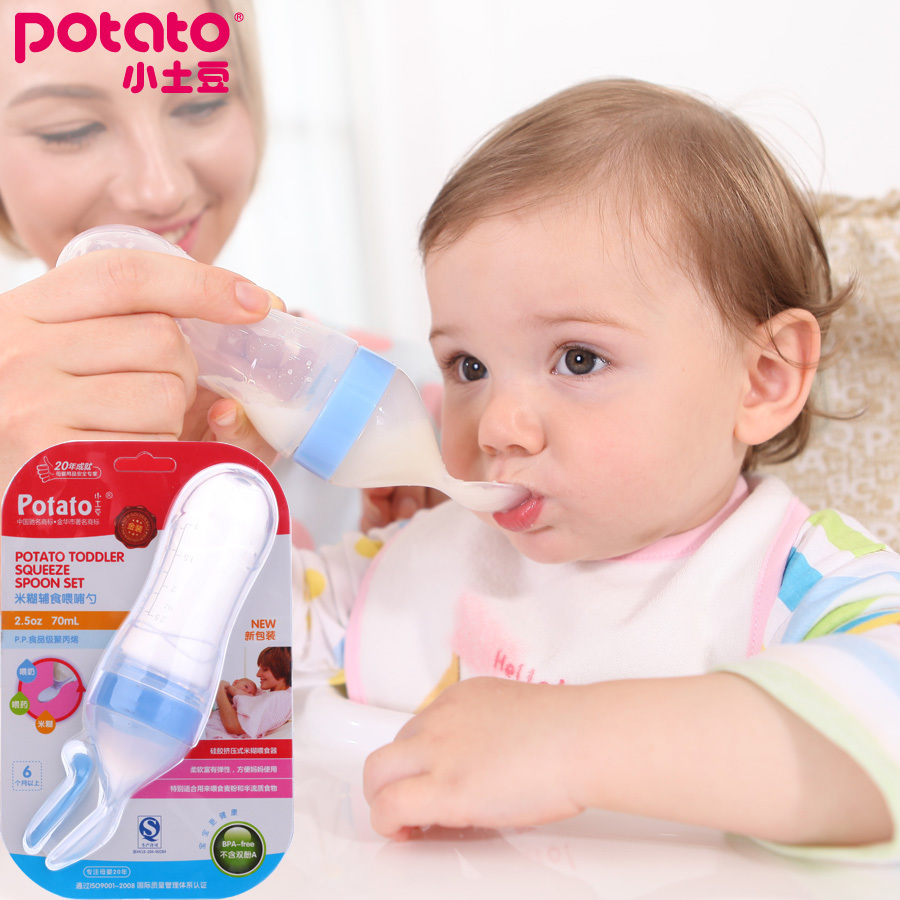 Small Potatoes Toddler Squeeze Silicone Gel Infant Feeding