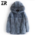 Super September hot sale winter elegant genuine leather fur women short garment fluffy natural fox fur coat vest with hood