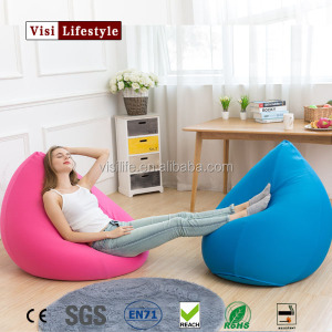 VIsi Bean Bag Teardrop Soft Elastic Material Bean Bag Sofa Chair Bed Floor Removeable Computer Sofa Furniture Home Decoration