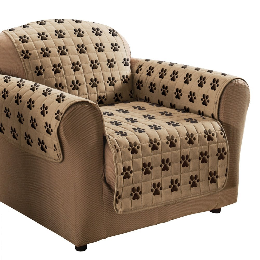 Admirable Buy Paw Print Design Furniture Cover Sofa In Cheap Price On Andrewgaddart Wooden Chair Designs For Living Room Andrewgaddartcom
