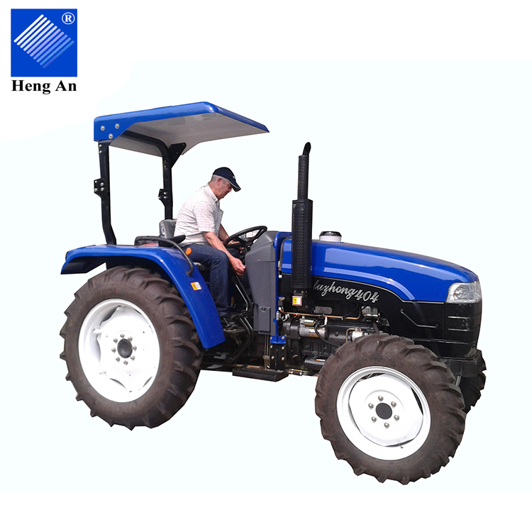Easy-to-use 40hp 4WD small farm wheel Tractor with Front End Loader and Backhoe