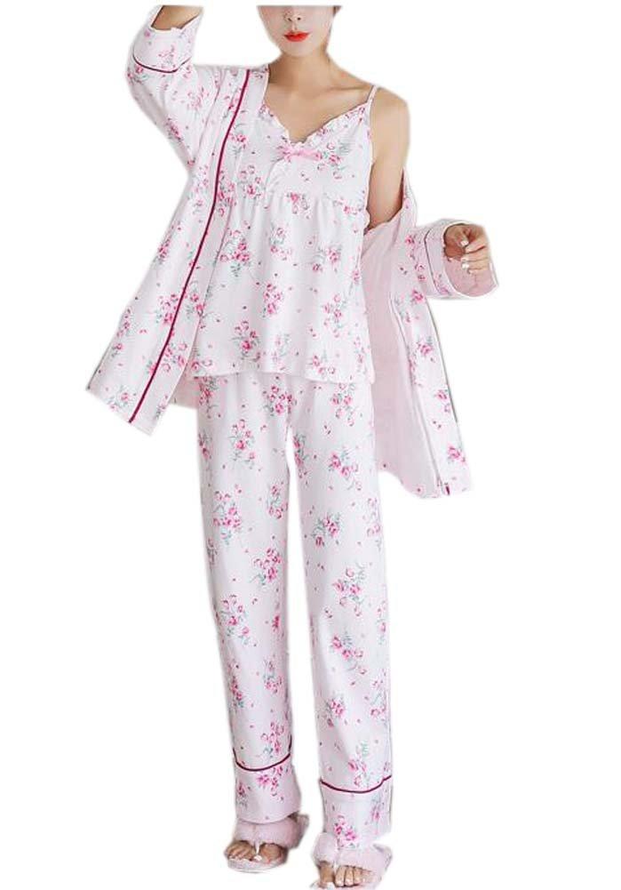 Get Quotations · Three-piece Japanese Style Kimono Cotton Pajamas Suit  Bathrobe 7a85bb35e